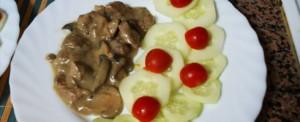 bifinhos de vaca com cogumelos