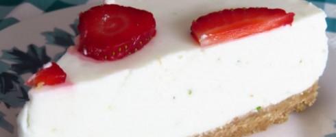 Receita de Cheesecake de Lima