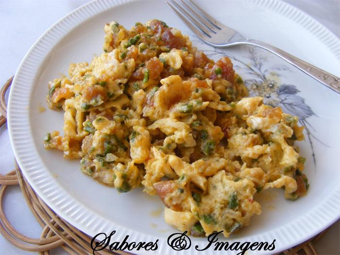 receita de ovos mexidos