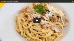 Receita de Esparguete à Carbonara
